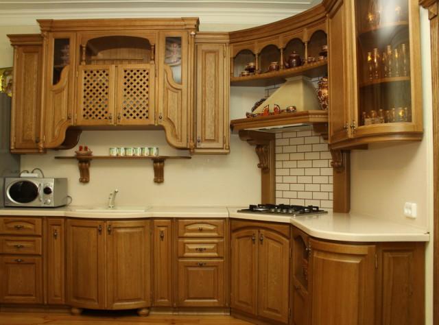 Кухня из натурального массива