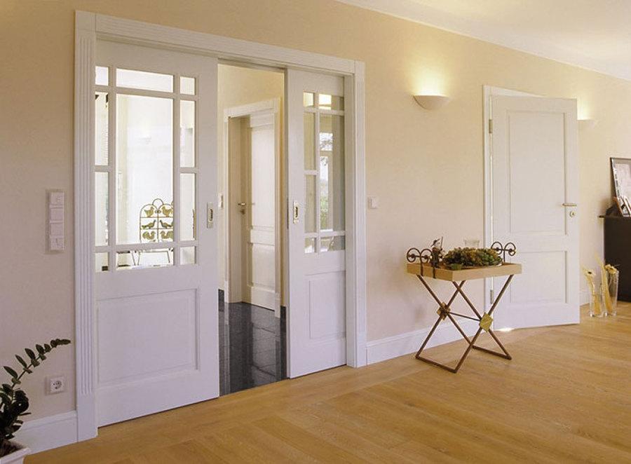 Фото дизайна складных межкомнатных дверей